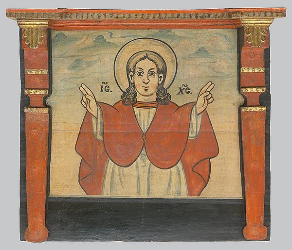 Neznámy ikonopisec - Žehnajúci Kristus Emanuel