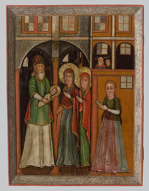 Neznámy ikonopisec - Obetovanie Krista v chráme