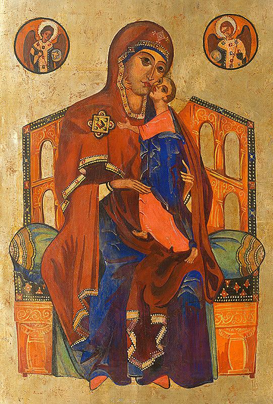 Ruský ikonopisec – Tróniaca Bohorodička