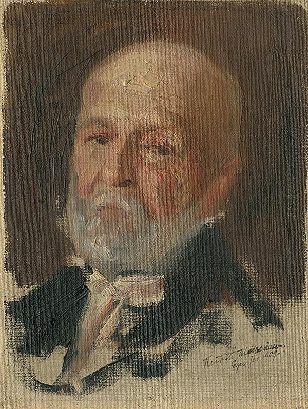 Maximilián Kurth – Štúdia hlavy starca