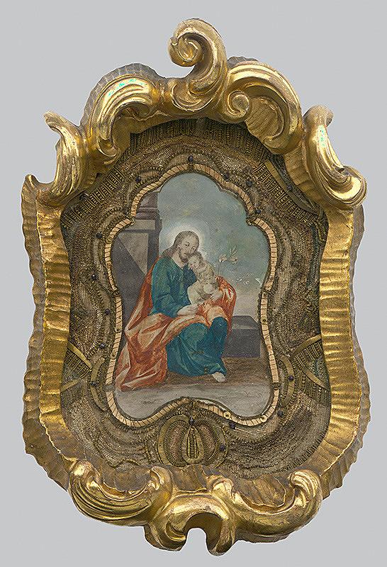 Stredoeurópsky maliar z 18. storočia - Svätý Jozef s Ježiškom