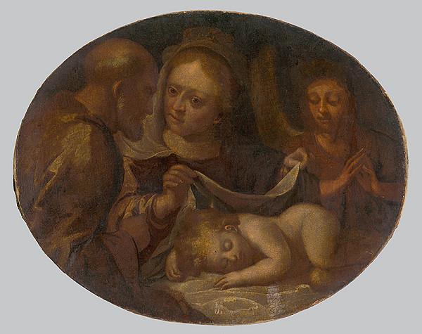 Severotaliansky maliar z 1. polovice 17. storočia, Nemecký maliar z 18. storočia - Svätá Rodina s anjelom
