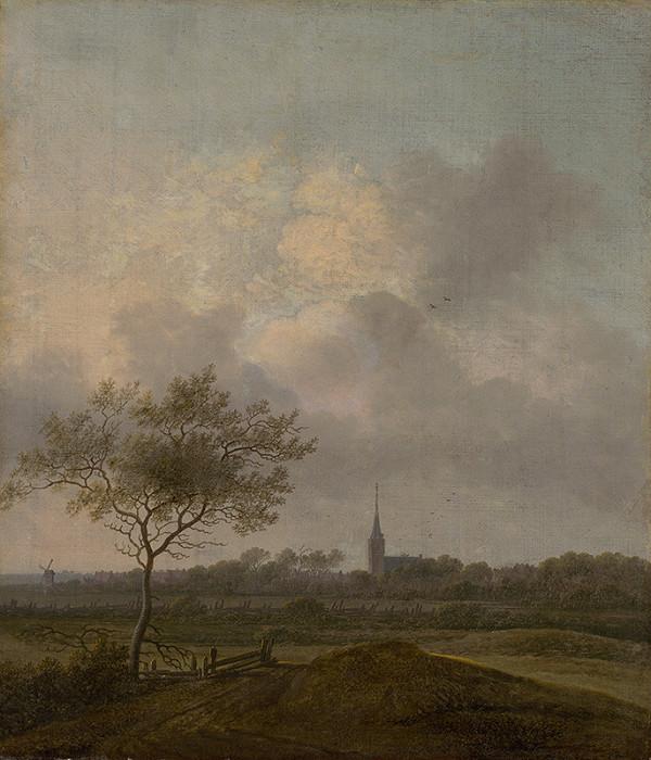 Anthonie Jansz. van der Croos – Krajina s kostolíkom v Rijswijcku