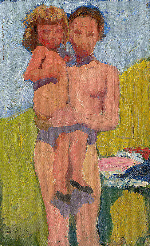 Maximilián Kurth - Štúdia matky s dievčatkom
