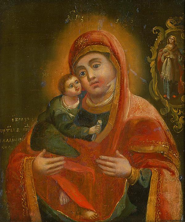 Východoslovenský maliar z konca 18. storočia, Neznámy ikonopisec - Madona s dieťaťom