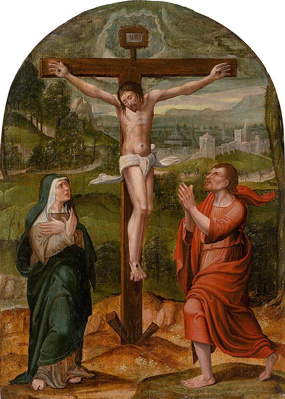 Nizozemský maliar zo 16. storočia - Ukrižovanie
