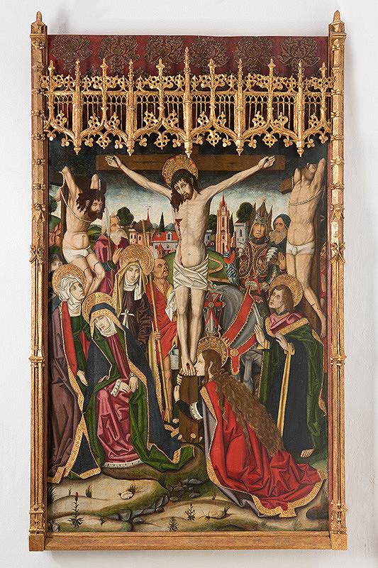 Hornonemecký maliar z konca 15. storočia - Ukrižovanie Krista