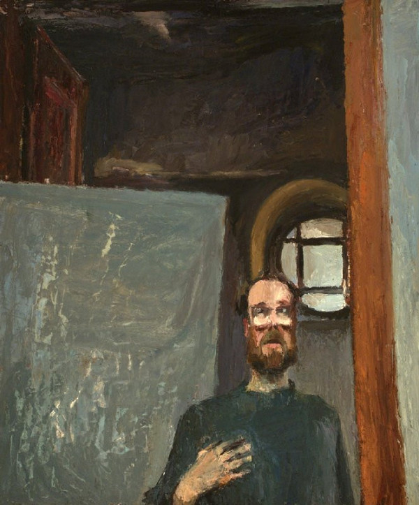 Siegfried Klotz – Autoportrét v ateliéri