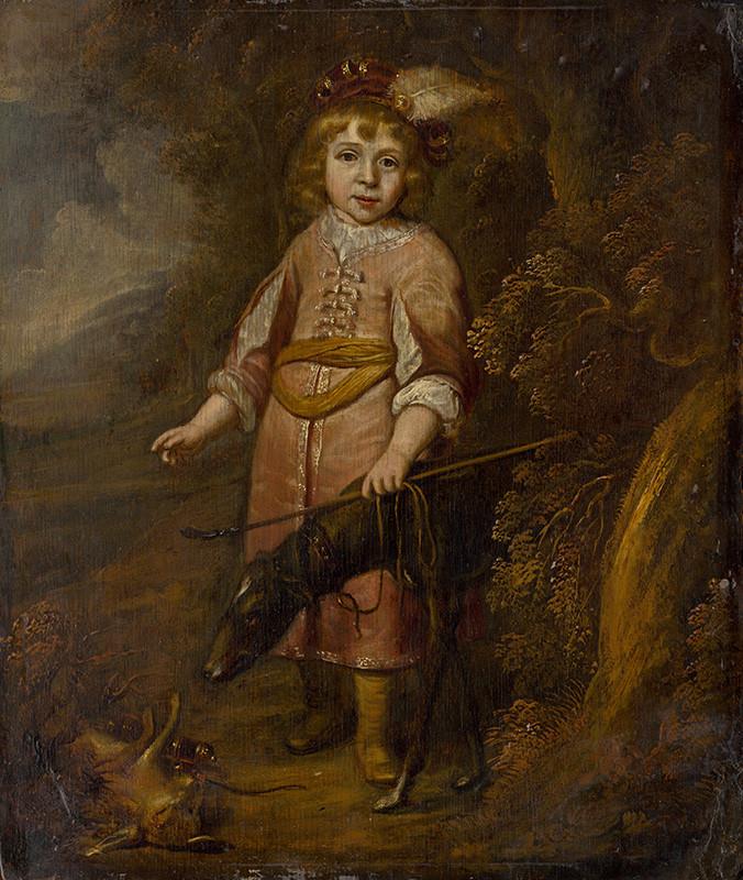 Okruh autora Matthysa van den Bergha – Podobizeň chlapca ako poľovníka, okolo 1640, Slovenská národná galéria