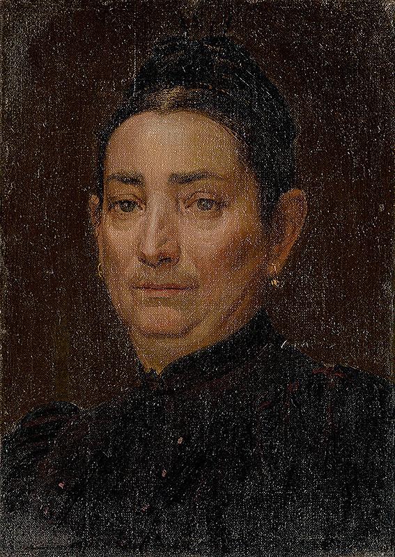 Ferdinand Katona - Podobizeň staršej ženy