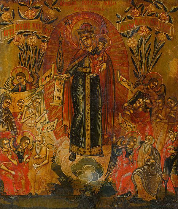 Ruský ikonopisec – Bohorodička Vsech skorbjaščich radosť