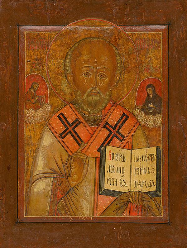 Ruský ikonopisec - Svätý Mikuláš divotvorca