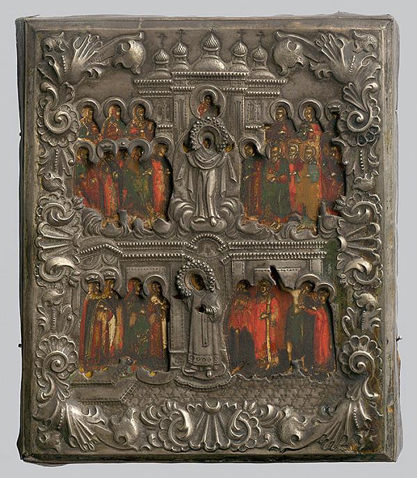 Ruský ikonopisec - Pokrov - ochrana P.Márie