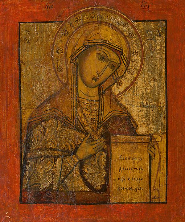 Ruský ikonopisec - Panna Mária