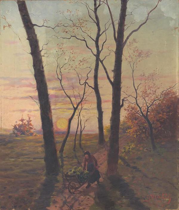 Gustáv Mallý – Západ slnka v Pezinku