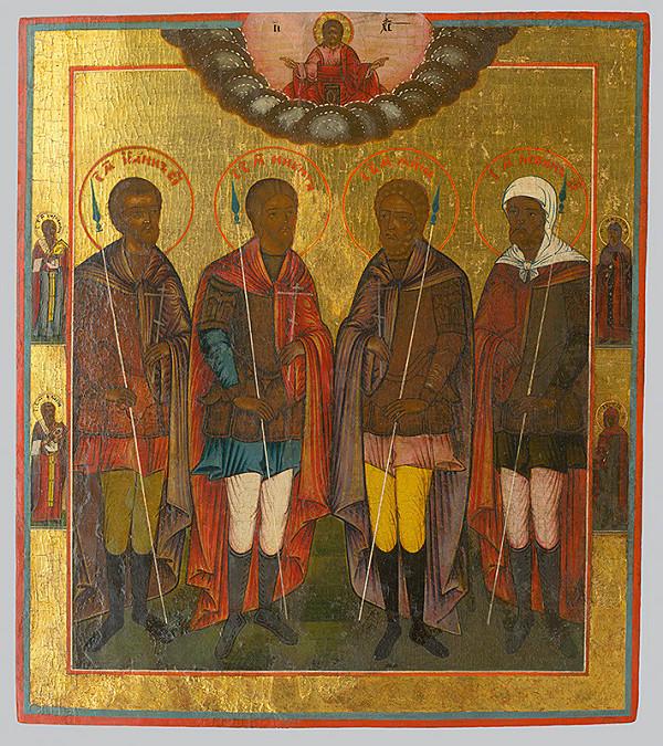 Ruský ikonopisec – Skupina štyroch svätcov