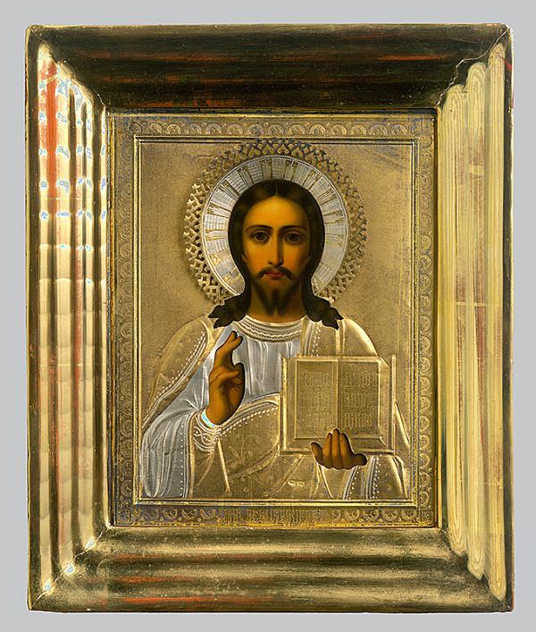 Ruský ikonopisec - Žehnajúci Kristus
