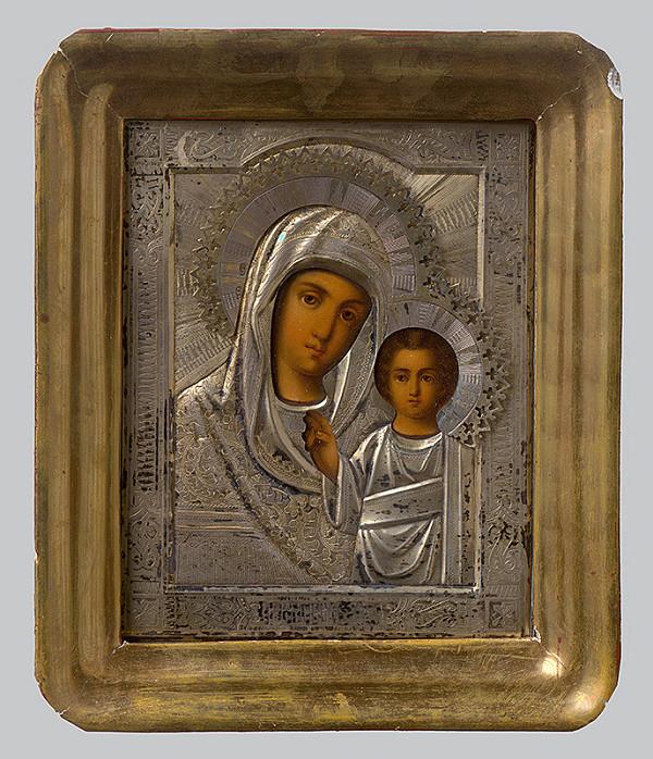Ruský ikonopisec – Bohorodička s dieťaťom - Hodegetria Kazaňská