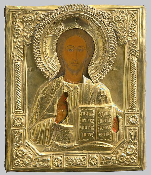 Ruský ikonopisec – Žehnajúci Kristus