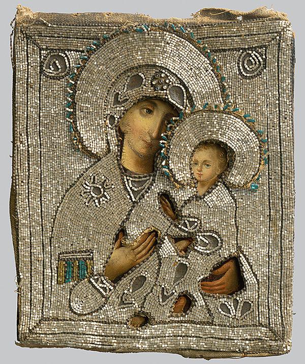 Ruský ikonopisec – Bohorodička s dieťaťom