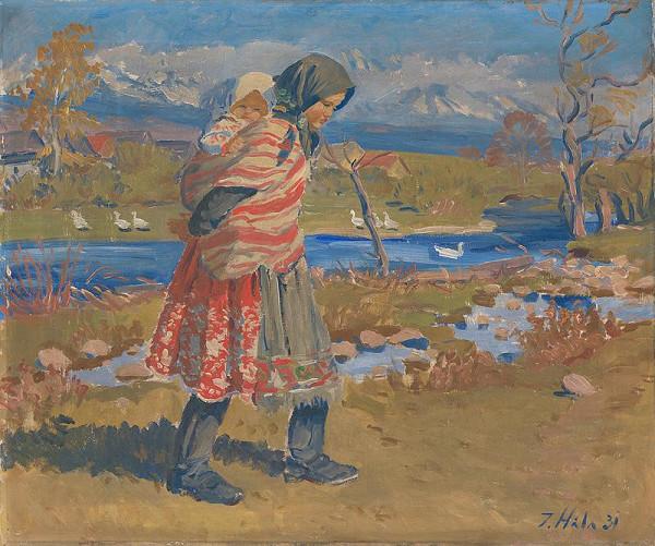 Jan Hála – Važtianka s dieťaťom