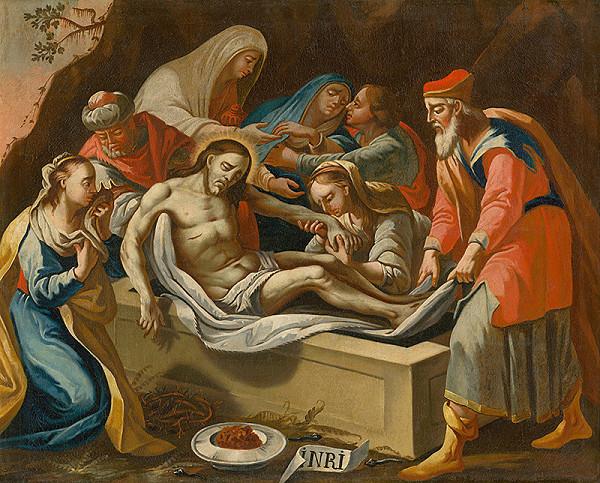 Slovenský maliar z 18. storočia, Neznámy maliar – Kladenie Krista do hrobu