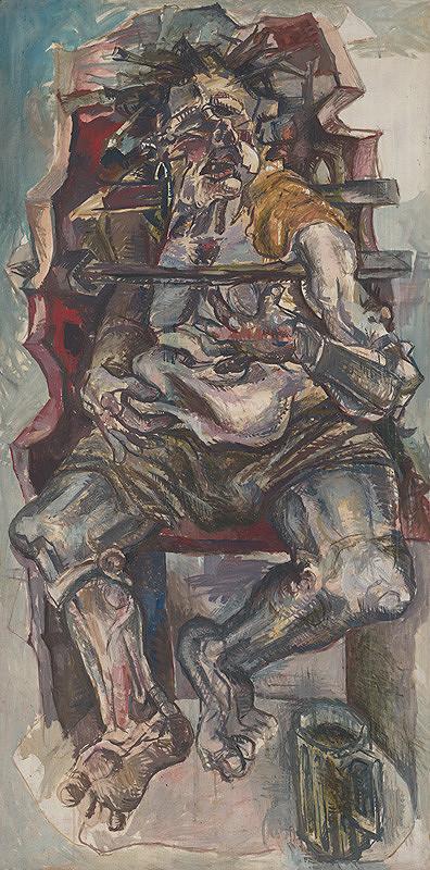 Milan Mravec - Sebaportrét v kresle