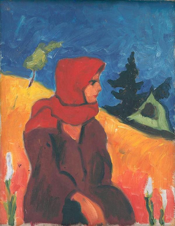 Zolo Palugyay - Dedinčanka v červenej šatke