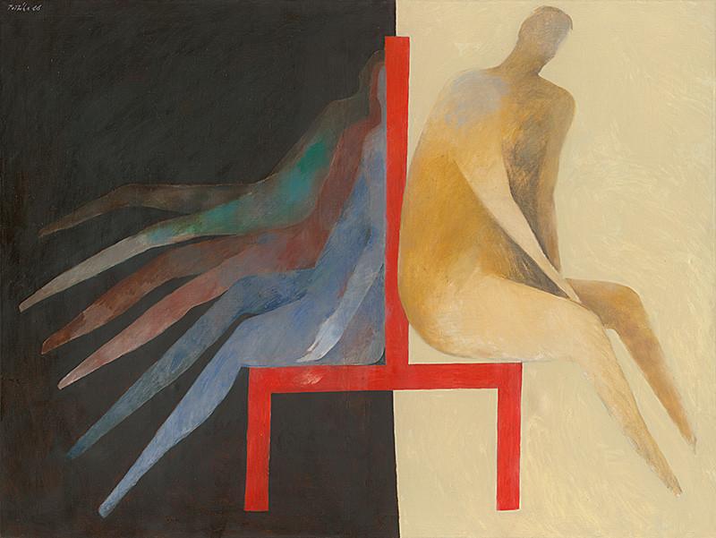 Milan Paštéka – Červená stolička, 1988, Slovenská národná galéria