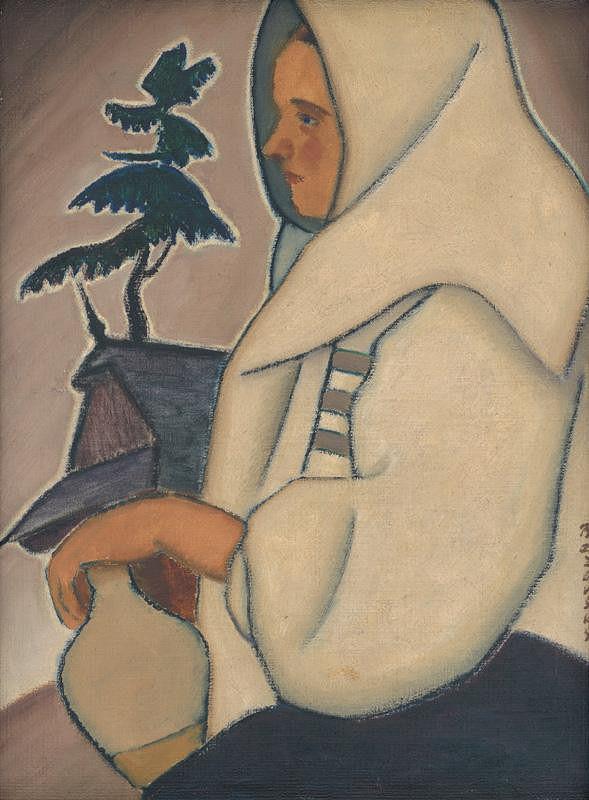 Miloš Alexander Bazovský - Žena s krčahom