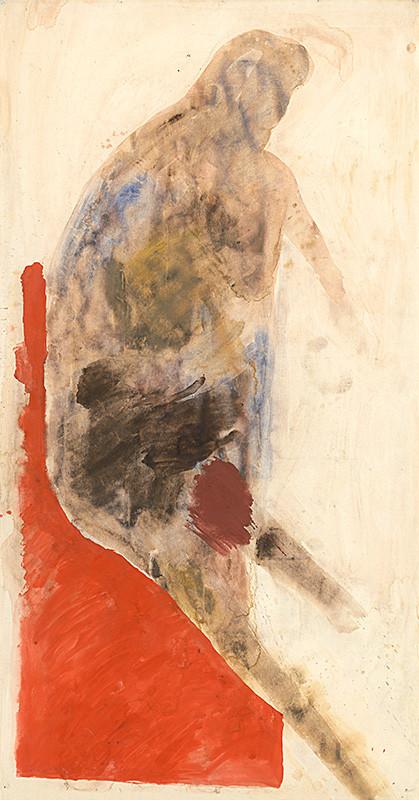 Milan Paštéka – Červená stolička, 1989, Slovenská národná galéria
