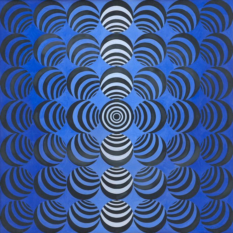 Milan Dobeš – Malý modrý centrálny bod, 1964, Slovenská národná galéria