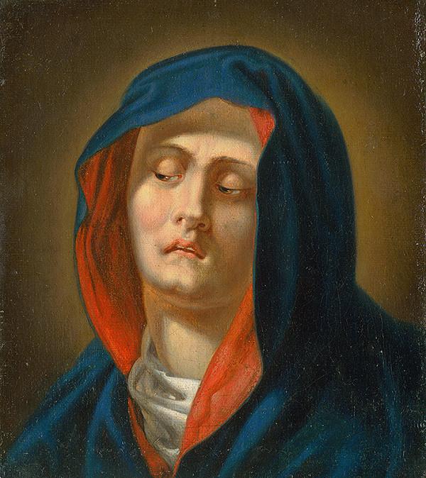Slovenský maliar z 2. polovice.18. storočia, Neznámy maliar - Hlava Panny Márie