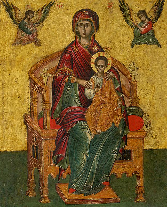 Ruský ikonopisec – Tróniaca Bohorodička, 2. polovica 16. storočia