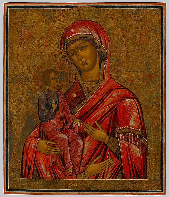 Ruský ikonopisec – Bohorodička, 18. storočie