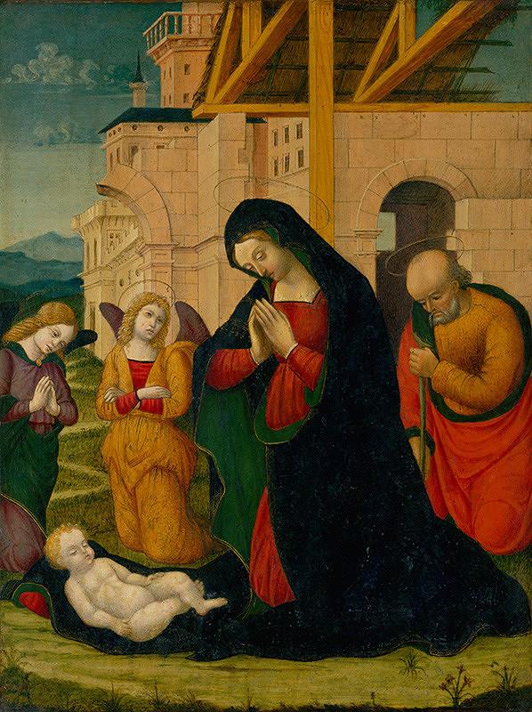 Taliansky maliar z 15. - 16. storočia - Narodenie Krista