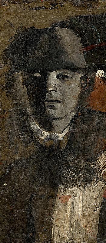 Ladislav Mednyánszky – Mladý muž v klobúku