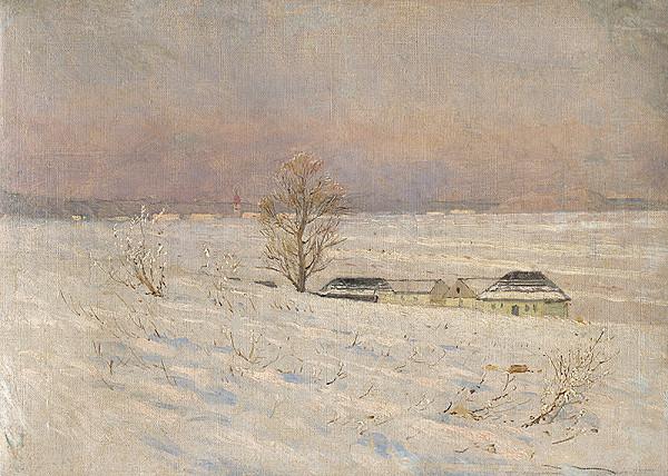 Ladislav Mednyánszky – Krajina v zime