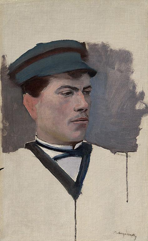 Ladislav Mednyánszky - Portrét mladého muža