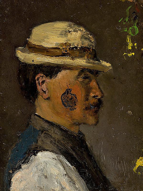 Ladislav Mednyánszky - Mladý muž v bielom klobúku