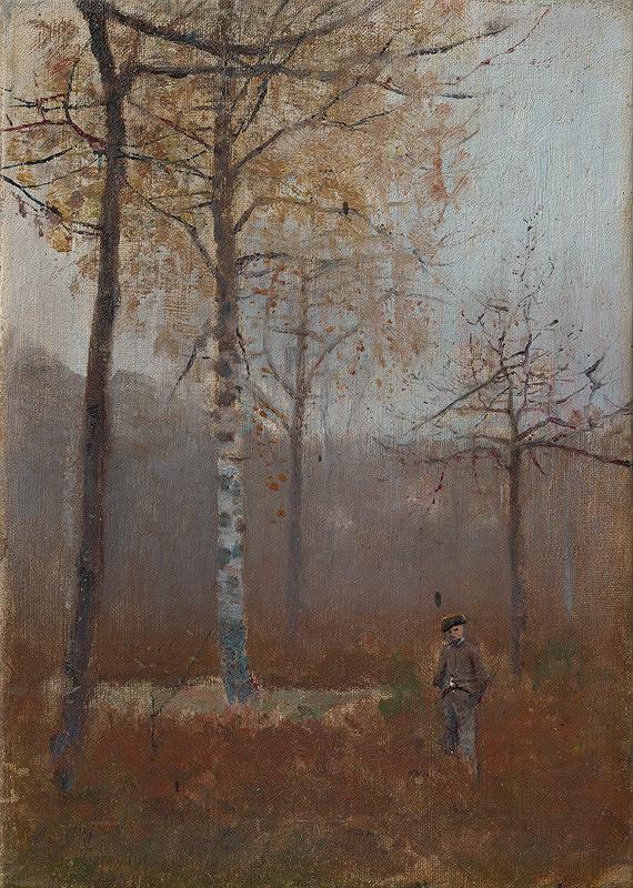 Ladislav Mednyánszky – Osamelý v brezovom háji