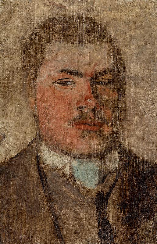Ladislav Mednyánszky - Portrét muža s fúzikmi