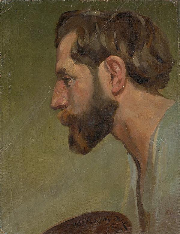 Elemír Köszeghy-Winkler - Muž s bradou z profilu