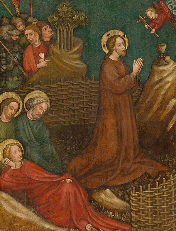 Viedenský alebo bratislavský maliar z 1. polovice 15. storočia - Kristus na Olivovej hore