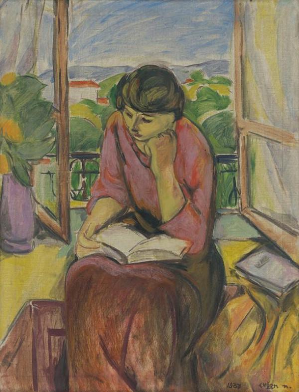 Eugen Nevan – Čítajúce dievča pri okne