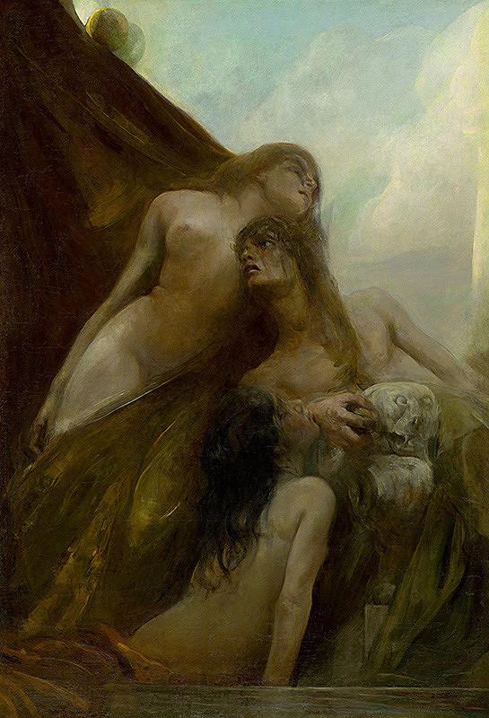 Neznámy stredoeurópsky maliar - Mytologická scéna