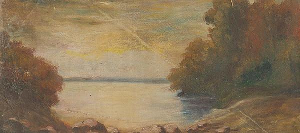 Ladislav Mednyánszky – Krajina s jazerom