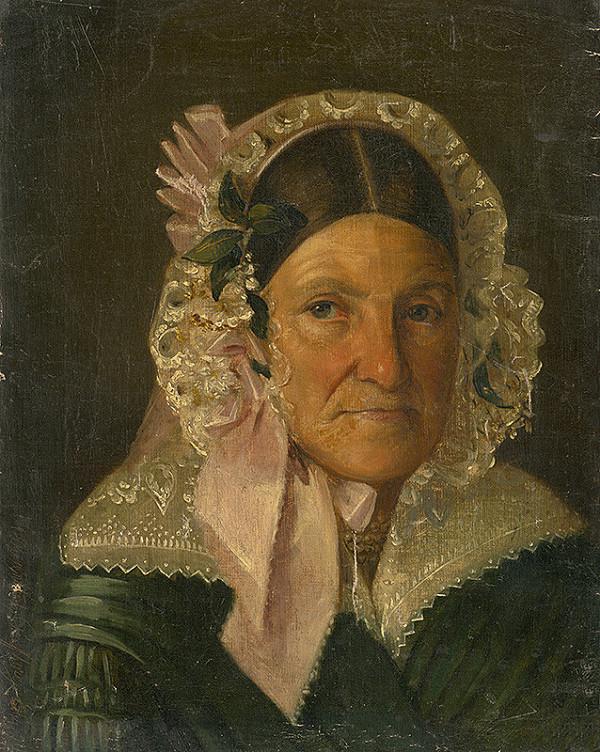 Constantin David Rosenthal - Portrét staršej ženy v čepci