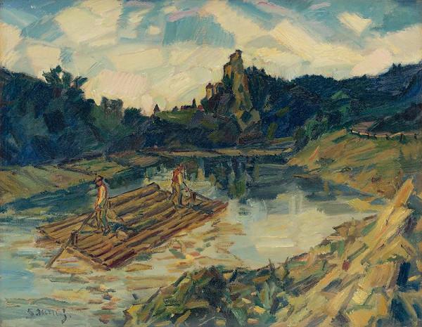 Gustáv Mallý – Pltníci. Na rieke Orave