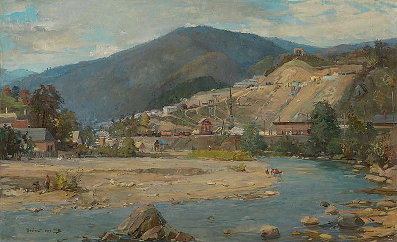 Andrej Doboš – Trať družby pri Ružíne, 1953, Slovenská národná galéria